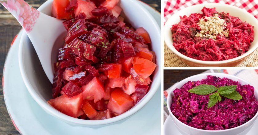 Liekninančios salotos iš burokėlių